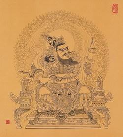 慧松禅佛彩墨艺廊 -- 四大天王